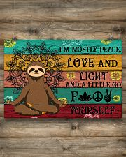 I'M MOSTLY PEACE LOVE AND LIGHT 24x16 Poster poster-landscape-24x16-lifestyle-15