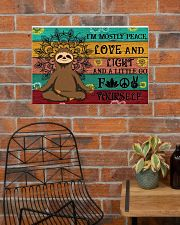 I'M MOSTLY PEACE LOVE AND LIGHT 24x16 Poster poster-landscape-24x16-lifestyle-24