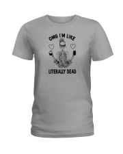 OMG I'M LIKE LITERALLY DEAD SKULL Ladies T-Shirt thumbnail