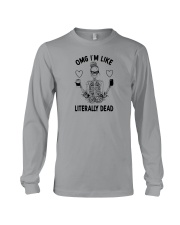 OMG I'M LIKE LITERALLY DEAD SKULL Long Sleeve Tee thumbnail