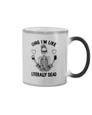 OMG I'M LIKE LITERALLY DEAD SKULL Color Changing Mug thumbnail
