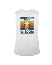 BOURBON GOES IN WISDOM COMES OUT Sleeveless Tee thumbnail