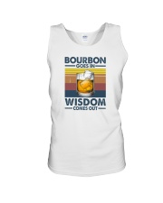 BOURBON GOES IN WISDOM COMES OUT Unisex Tank thumbnail