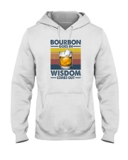 BOURBON GOES IN WISDOM COMES OUT Hooded Sweatshirt thumbnail