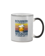 BOURBON GOES IN WISDOM COMES OUT Color Changing Mug thumbnail