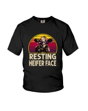 RESTING HEIFER FACE Youth T-Shirt thumbnail