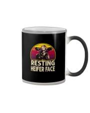 RESTING HEIFER FACE Color Changing Mug thumbnail