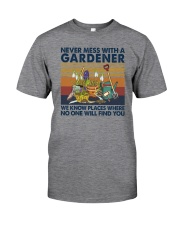 NEVER MESS WITH A GARDENER Classic T-Shirt front