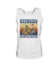 NEVER MESS WITH A GARDENER Unisex Tank thumbnail