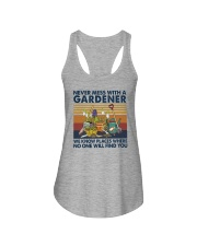 NEVER MESS WITH A GARDENER Ladies Flowy Tank thumbnail