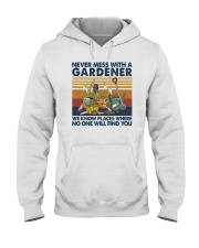 NEVER MESS WITH A GARDENER Hooded Sweatshirt thumbnail
