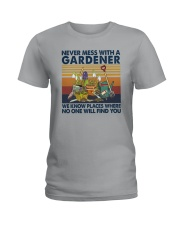 NEVER MESS WITH A GARDENER Ladies T-Shirt thumbnail
