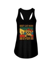 BEST CAT MOM EVER Ladies Flowy Tank tile