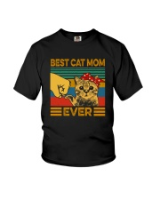 BEST CAT MOM EVER Youth T-Shirt tile