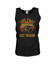 LIVE FAST EAT TRASH Unisex Tank thumbnail