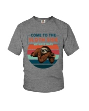 COME TO THE SLOTH SIDE WE HAVE NAPS Youth T-Shirt thumbnail