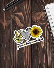 PEACE LOVE SUNSHINE Sticker - Single (Vertical) aos-sticker-single-vertical-lifestyle-front-05
