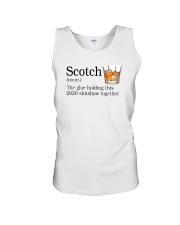 SCOTCH THE GLUE HOLDING THIS 2020 Unisex Tank thumbnail