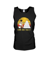 COME AND TAKE  IT pug Unisex Tank thumbnail