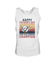 HAPPY FATHER'S DAY FROM YOUR SWIMMING CHAMPION Unisex Tank thumbnail