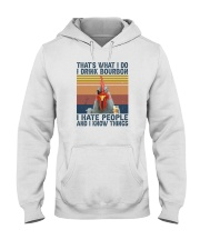 I DRINK BOURBON I HATE PEOPLE CHICKEN Hooded Sweatshirt thumbnail