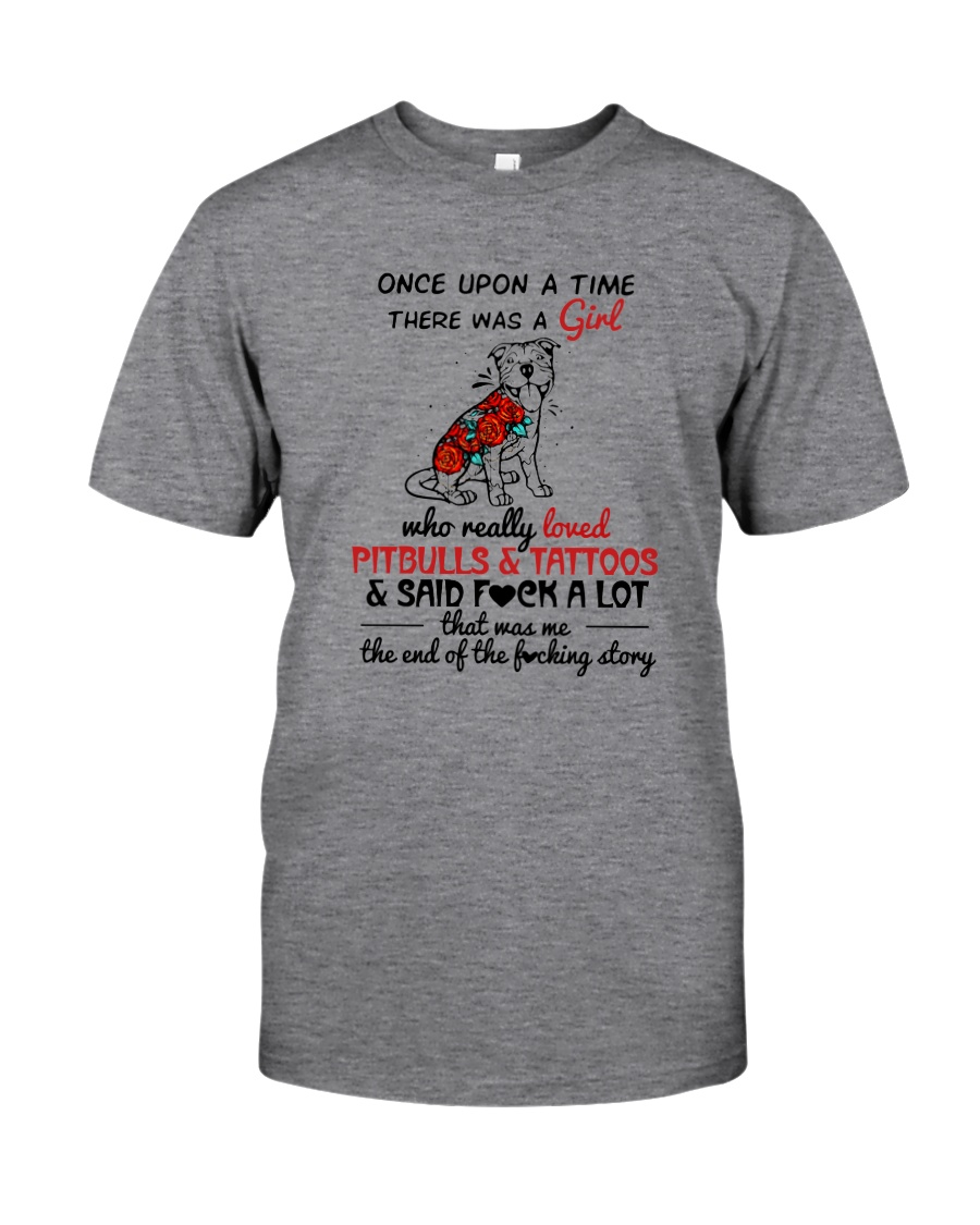 A GIRL LOVED PITBULLS AND TATTOOS Classic T-Shirt