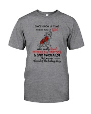 A GIRL LOVED PITBULLS AND TATTOOS Classic T-Shirt front