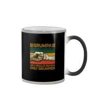 GRUMPA LIKE A REGULAR GRANDPA ONLY GRUMPIER Color Changing Mug thumbnail