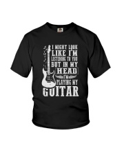 IN MY HEAD I'M PLAYING MY GUITAR Youth T-Shirt thumbnail