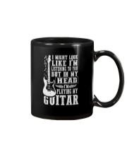 IN MY HEAD I'M PLAYING MY GUITAR Mug thumbnail