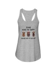 COWS MAKE ME HAPPY HUMAS MAKE MY HEAD HURT Ladies Flowy Tank thumbnail