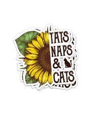 TATS NAPS AND CATS Sticker - 4 pack (Vertical) front