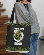 DON'T CARE BEAR All-over Tote aos-all-over-tote-lifestyle-front-09
