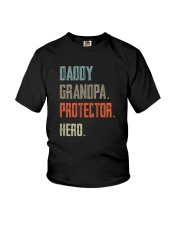 DADDY GRANDPA PROTECTOR HERO Youth T-Shirt tile