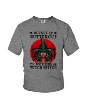 YOU JUST FLIPPED MY WITCH SWITCH BLACK GIRL MAGIC Youth T-Shirt tile