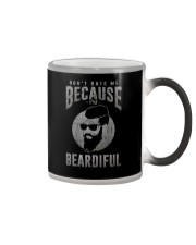 DON'T HATE ME BECAUSE I'M BEARDIFUL Color Changing Mug thumbnail