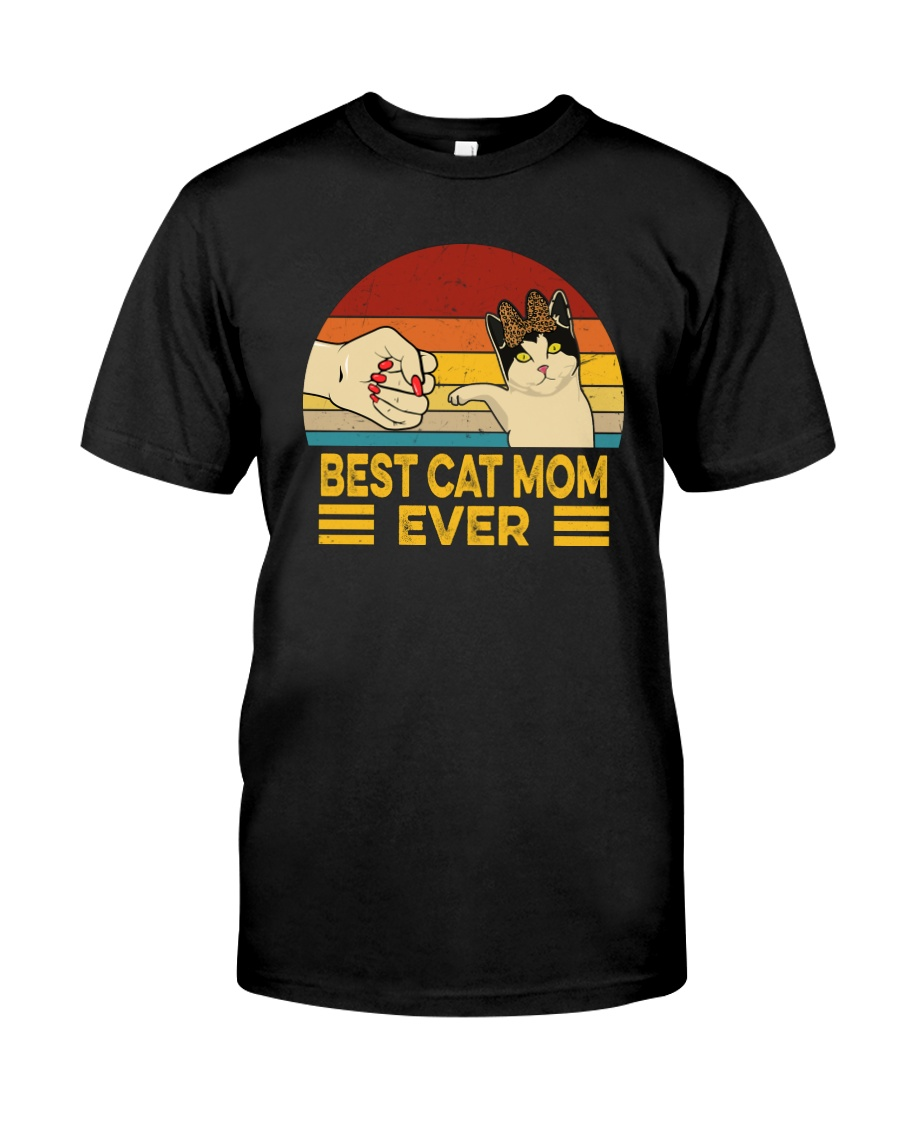 FUNNY GIFT BEST CAT MOM EVER VINTAGE Classic T-Shirt