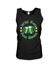 WILL RUN FOR BEER Unisex Tank thumbnail