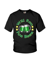 WILL RUN FOR BEER Youth T-Shirt thumbnail