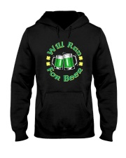 WILL RUN FOR BEER Hooded Sweatshirt thumbnail