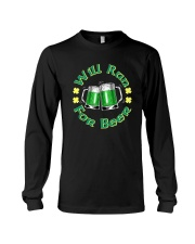 WILL RUN FOR BEER Long Sleeve Tee thumbnail