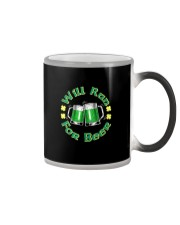 WILL RUN FOR BEER Color Changing Mug thumbnail