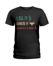 LOG IT GRAZE IT Ladies T-Shirt thumbnail