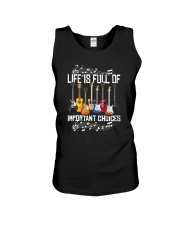 LIFE IS FULL OF IMPORTANT CHOICES Unisex Tank thumbnail