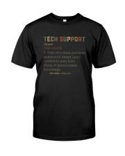 TECH SUPPORT noun Classic T-Shirt front