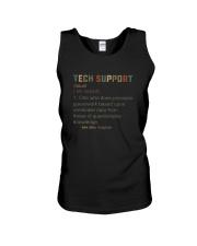 TECH SUPPORT noun Unisex Tank thumbnail