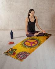 HIPPIE PEACE MANDALA Yoga Mat 70x24 (horizontal) aos-yoga-mat-lifestyle-18