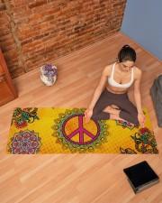 HIPPIE PEACE MANDALA Yoga Mat 70x24 (horizontal) aos-yoga-mat-lifestyle-19