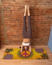 HIPPIE PEACE MANDALA Yoga Mat 70x24 (horizontal) aos-yoga-mat-lifestyle-20