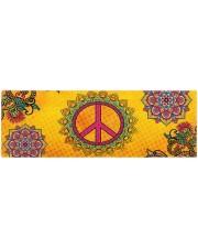 HIPPIE PEACE MANDALA Yoga Mat 70x24 (horizontal) front